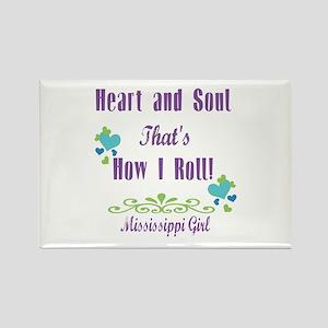 Mississippi Girl Rectangle Magnet