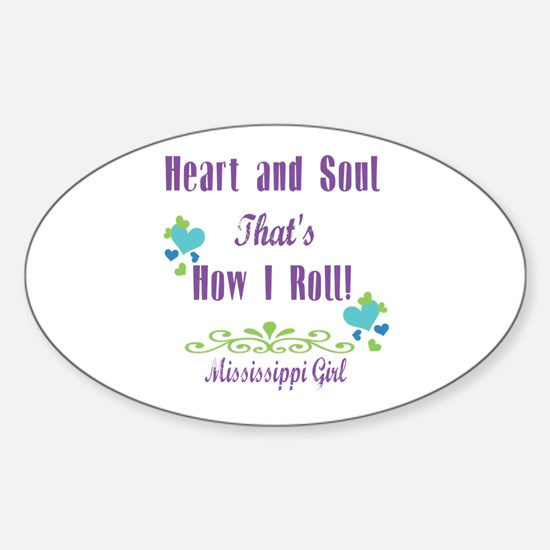 Mississippi Girl Sticker (Oval)