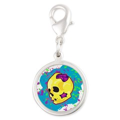 Painted Skull Charms