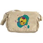 Painted Skull Messenger Bag