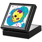 Painted Skull Keepsake Box