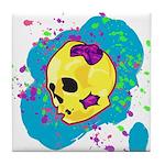 Painted Skull Tile Coaster