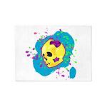 Painted Skull 5'x7'Area Rug