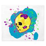 Painted Skull King Duvet