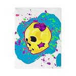 Painted Skull Twin Duvet