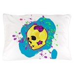Painted Skull Pillow Case