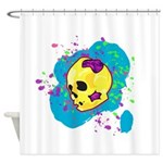 Painted Skull Shower Curtain