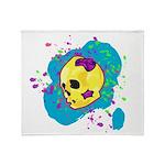 Painted Skull Throw Blanket
