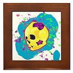 Painted Skull Framed Tile
