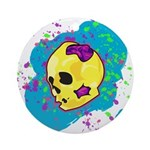 Painted Skull Ornament (Round)