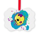 Painted Skull Ornament
