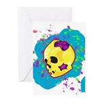 Painted Skull Greeting Cards