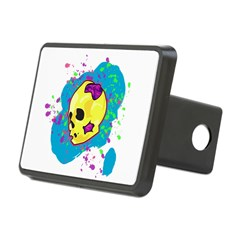 Painted Skull Hitch Cover