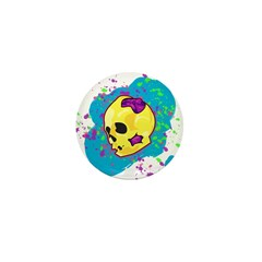 Painted Skull Mini Button (100 pack)