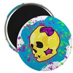 Painted Skull Magnets
