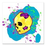 Painted Skull Square Car Magnet 3