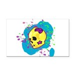Painted Skull Rectangle Car Magnet