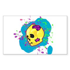 Painted Skull Decal