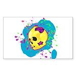 Painted Skull Sticker