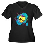 Painted Skull Plus Size T-Shirt