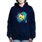 Painted Skull Women's Hooded Sweatshirt