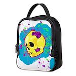Painted Skull Neoprene Lunch Bag