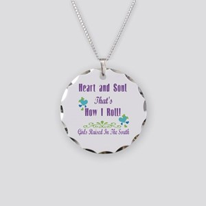 GRITS Girl Necklace Circle Charm