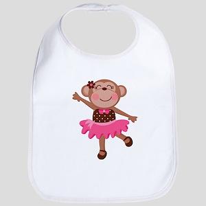 Monkey Ballerina Baby Bib