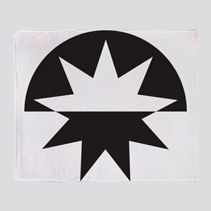 Art Deco Star Sunburst Throw Blanket