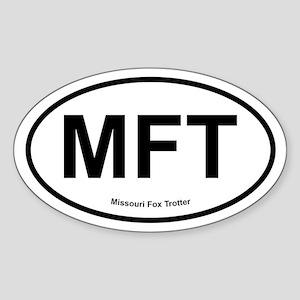 MFT Missouri Fox Trotter oval Sticker