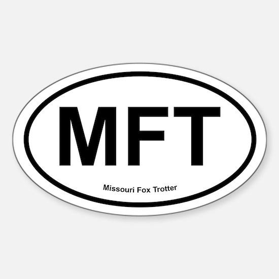 MFT Missouri Fox Trotter oval Decal