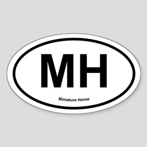 MH Miniature Horse oval Sticker