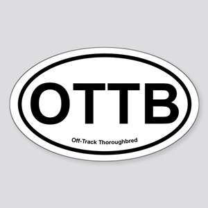 OTTB Off Track Thoroughbred oval Sticker