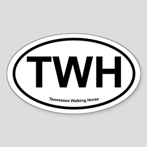TWH Tennesee Walking Horse oval Sticker
