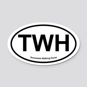 TWH Tennesee Walking Horse oval Oval Car Magnet