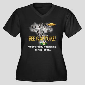 Alien Rapture Bees Women's Plus Size V-Neck Dark T