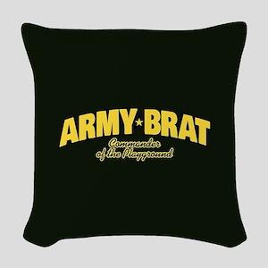 Army Brat Woven Throw Pillow