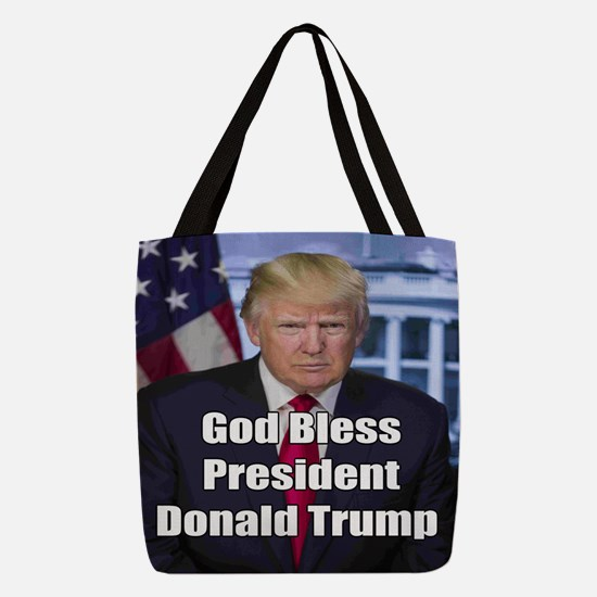 God Bless President Donald Trump Polyester Tote Ba