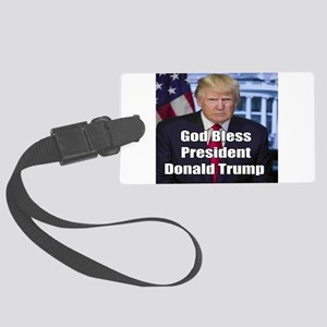 God Bless President Donald Trump Luggage Tag