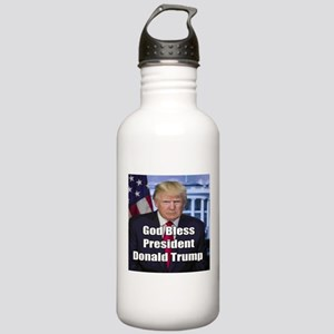 God Bless President Donald Trump Water Bottle