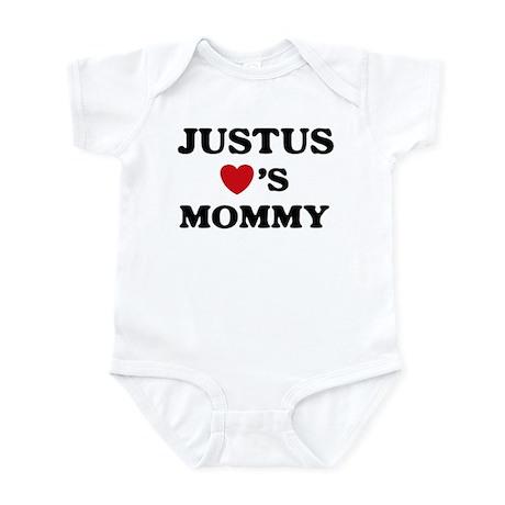Justus loves mommy Infant Bodysuit