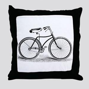 VintageBicycle Throw Pillow