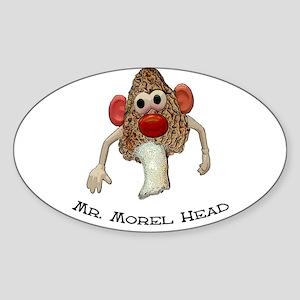 Mr. morel head morel hunting Oval Sticker