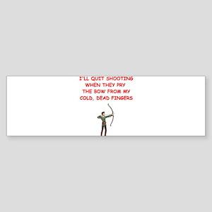 ARCHERY2 Bumper Sticker