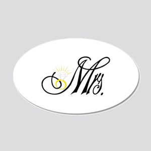 mrs. with 20x12 Oval Wall Decal