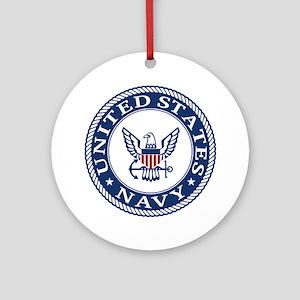 United States Navy Round Ornament