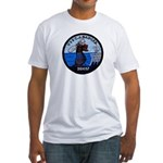 USS CHARLES J. BADGER Fitted T-Shirt