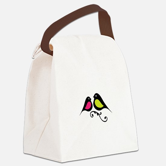 Love Birds Canvas Lunch Bag