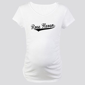 Rose Haven, Retro, Maternity T-Shirt