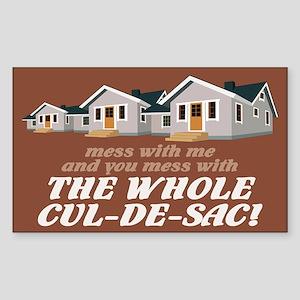 """""""Whole Cul-de-Sac"""" Rectangle Sticker"""